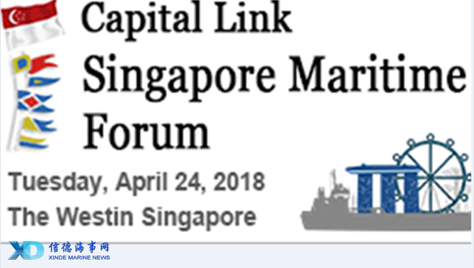 CAPITAL LINK'S SINGAPORE MARITIME FORUM on APRIL 24