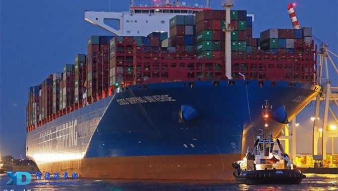 China's largest container ship back after maiden voyage_信德