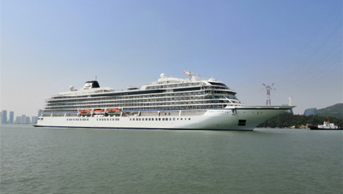 Xiamen Port welcomes this year's first Viking liner