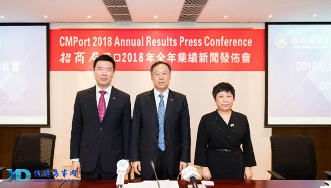 CMPort 2018 net profit rose 20 2% to HK$7,245 million_信德海事网