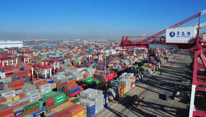 青岛港外贸吞吐量连续居北方港口首位
