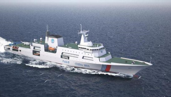 China's first 10,000-ton maritime patrol vessel und
