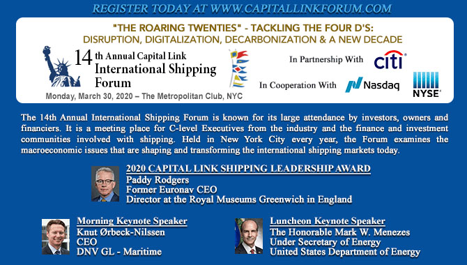 14th Annual Capital Link International Shipping For