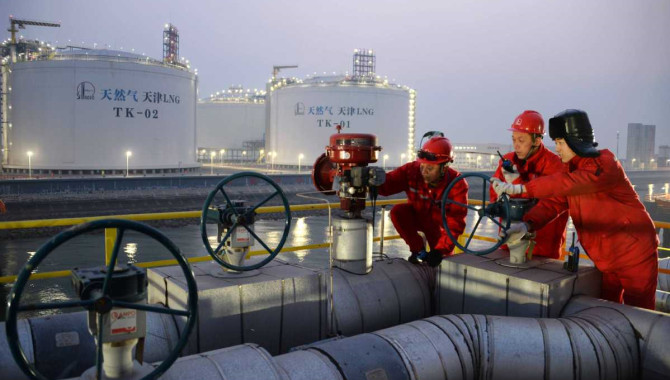China's comprehensive LNG import price down