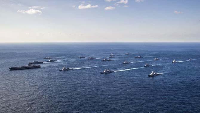 预警!多海域再次同时进行军事演练!