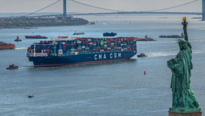 The CMA CGM BRAZIL:the largest container ship to en