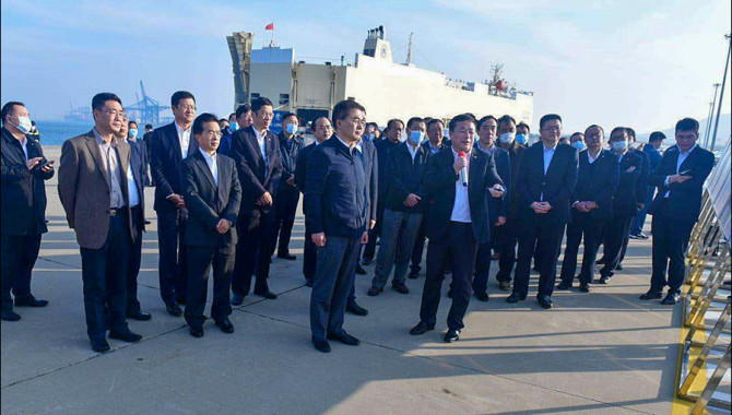 Vice Chairman of SASAC inspects Liaoning Port Group